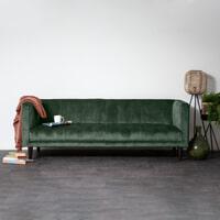 Sevn Bank 'Siem' 3-zits, Velvet kleur Groen