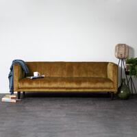 Sevn Bank 'Siem' 3-zits, Velvet kleur Gold