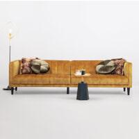 Sohome 5-zits Bank 'Alison' Velvet, kleur gold