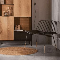 Kave Home Loungestoel 'Lulu', kleur Zwart