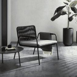 Kave Home Loungestoel 'Sigrid', kleur Zwart