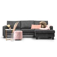 Sohome Loungebank 'Mathew' Rechts, Microleder, kleur antraciet