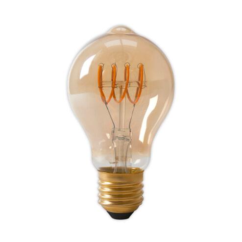 Spiraallamp 'Bol' E27 LED 4W goldline, dimbaar