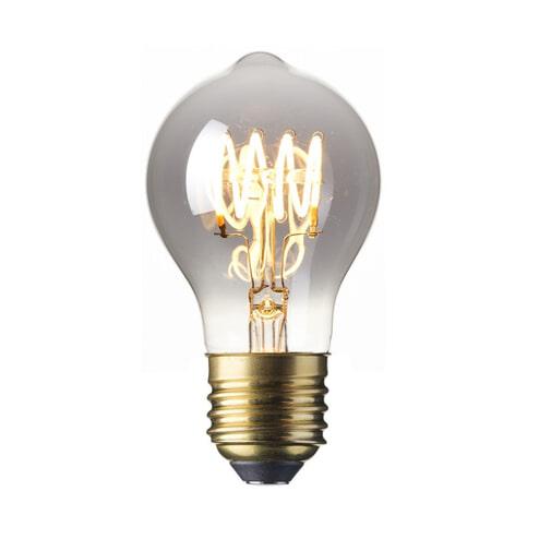 Spiraallamp 'Bol' E27 LED 4W Titanium Rustic, dimbaar