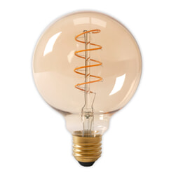 Spiraallamp 'Bol XL'  Ø12,5cm E27 LED 4W goldline, dimbaar