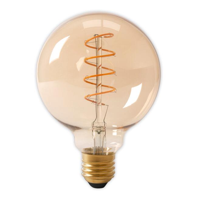 Spiraallamp 'Bol XL' E27 LED 4W goldline Ø12,5cm, dimbaar