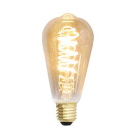Spiraallamp 'Peer' E27 LED 4W goldline 14cm, dimbaar