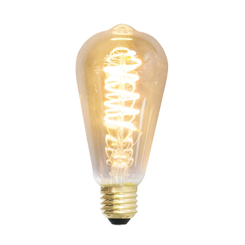 Spiraallamp 'Peer' E27 LED 4W goldline 14cm, dimbaar