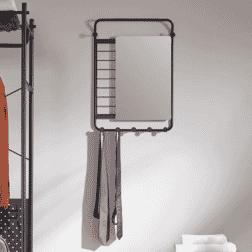 Kave Home Kapstok 'Stonak' met spiegel