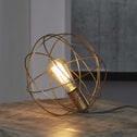 Tafellamp 'Bea' draadstaal brons