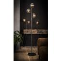 Tafellamp 'Kemal' 2-lamps met glazen bollen