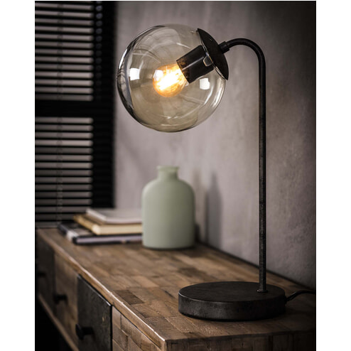 Tafellamp 'Kemal' met glazen bol