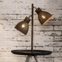 Tafellamp 'Milo', kleur Bruin
