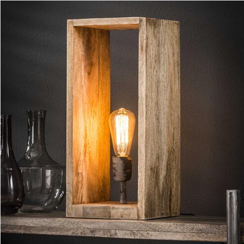 Tafellamp 'Nicole' mangohout