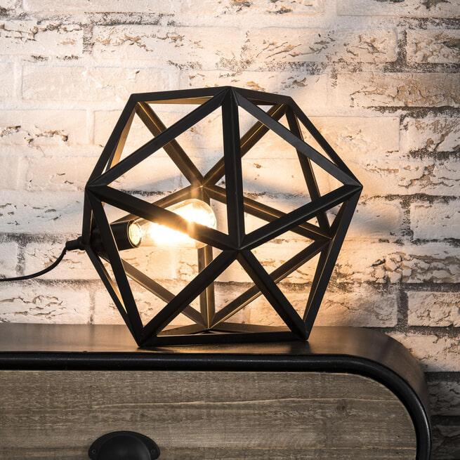 Tafellamp 'Sia' triangel, kleur zwart