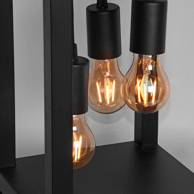 LABEL51 Tafellamp 'Dangle', Metaal, 3 lamps, kleur Zwart