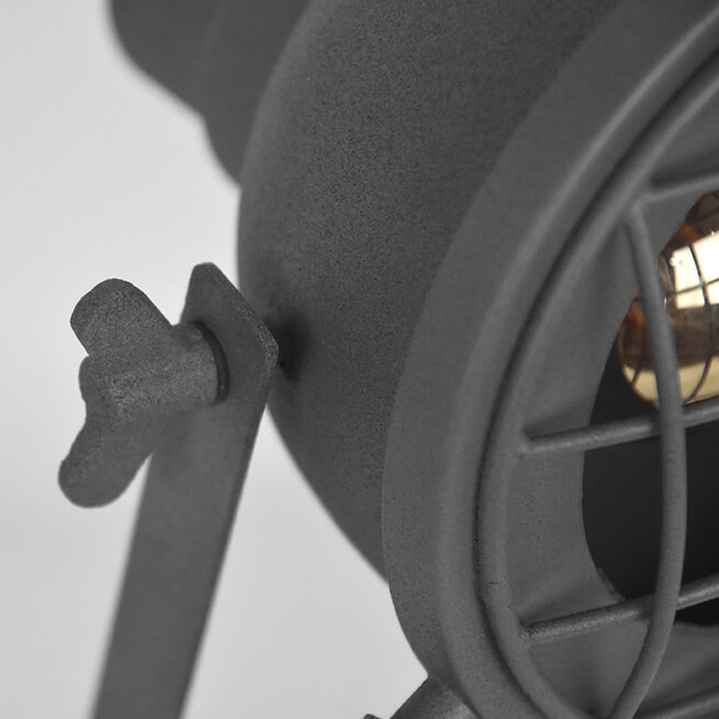 LABEL51 Tafellamp 'Grid', 39cm, kleur Grijs