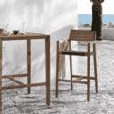 Kave Home Barkruk 'Tess' (zithoogte 62cm), kleur Donkergrijs