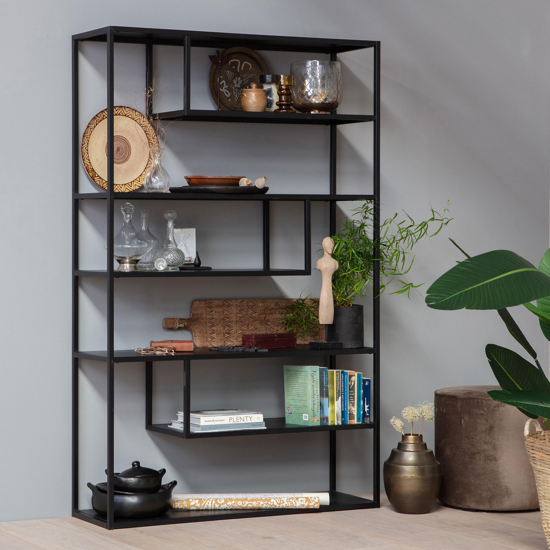 WOOOD Kast 'Teun' 120cm, kleur Zwart