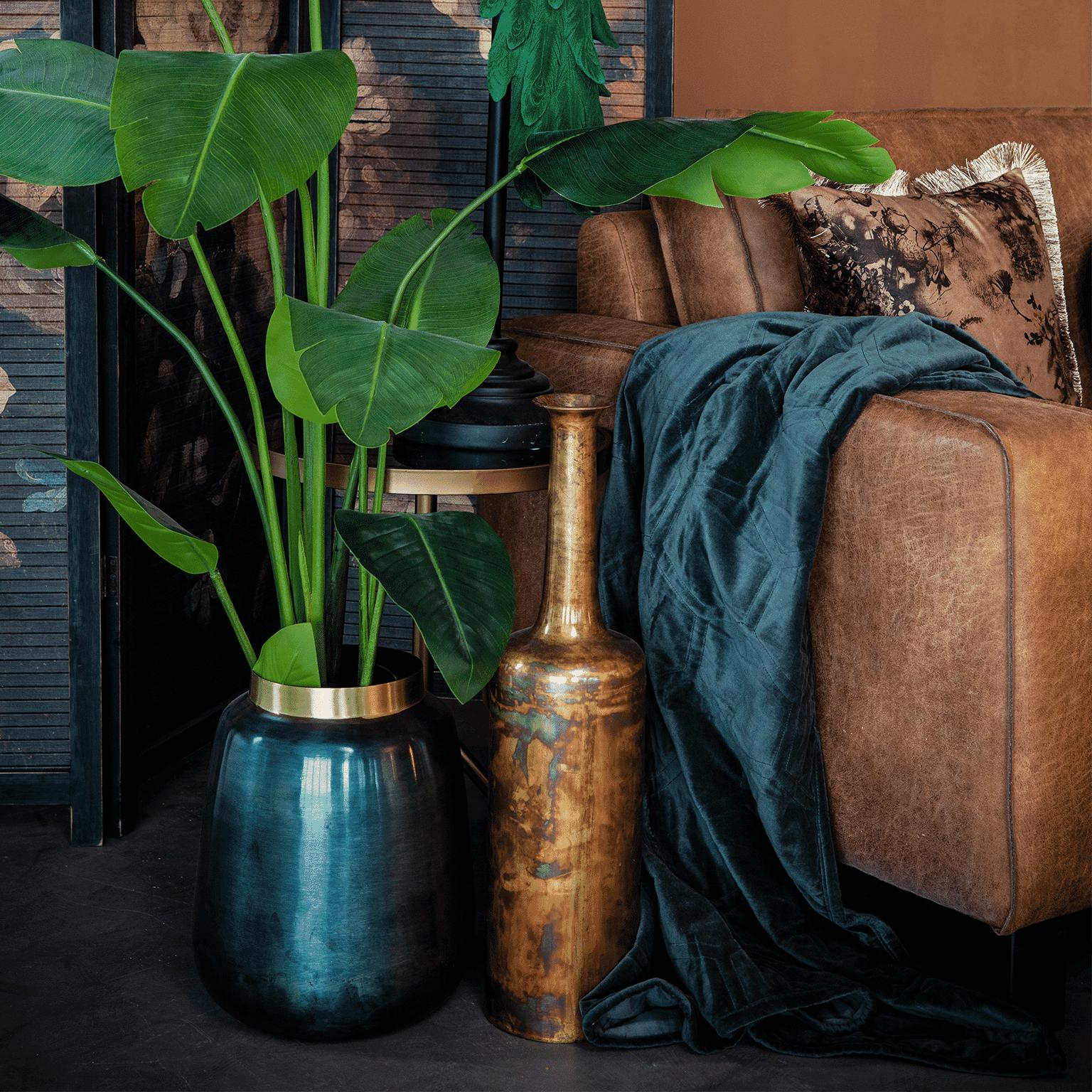 By-Boo Vaas 'The Nile 1' 64cm hoog, kleur goud