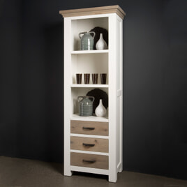 Tower Living Boekenkast 'Parma' kleur wit