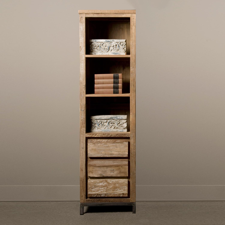 Tower Living Industri�le Boekenkast 'Veneti�' met 3 lades