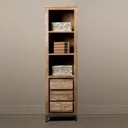 Tower Living Industriële Boekenkast 'Venetië' met 3 lades