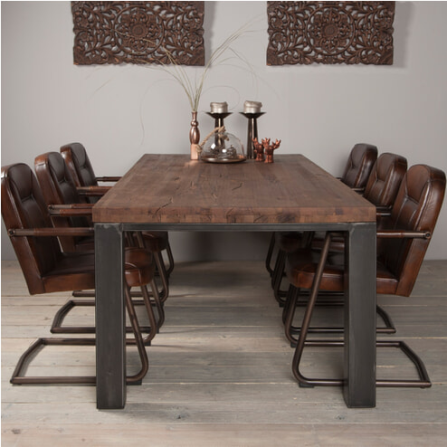 Tower Living Eettafel 'Corfu' kleur smoke brown
