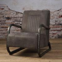 Tower Living fauteuil 'Barn' Leder, kleur Danza Stone