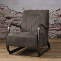 Tower Living fauteuil 'Barn' Leder