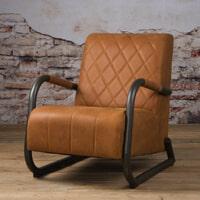 Tower Living fauteuil 'Ranch' Leder, kleur Danza Rust