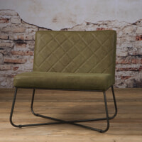 Tower Living fauteuil 'Rodeo' Leder, kleur Danza Olive
