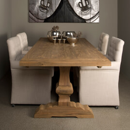 Tower Living Kloostertafel 'Le mans' 200 x 100cm