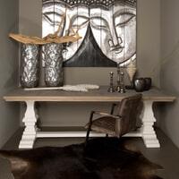Tower Living Kloostertafel 'Toscana' 220 x 100cm, kleur wit