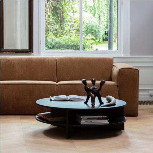WOOOD Salontafel 'Trian' 100cm, kleur Zwart