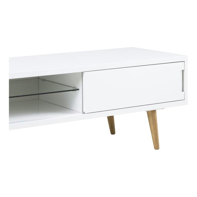 Bendt Tv-meubel 'Elina' 180cm, kleur wit
