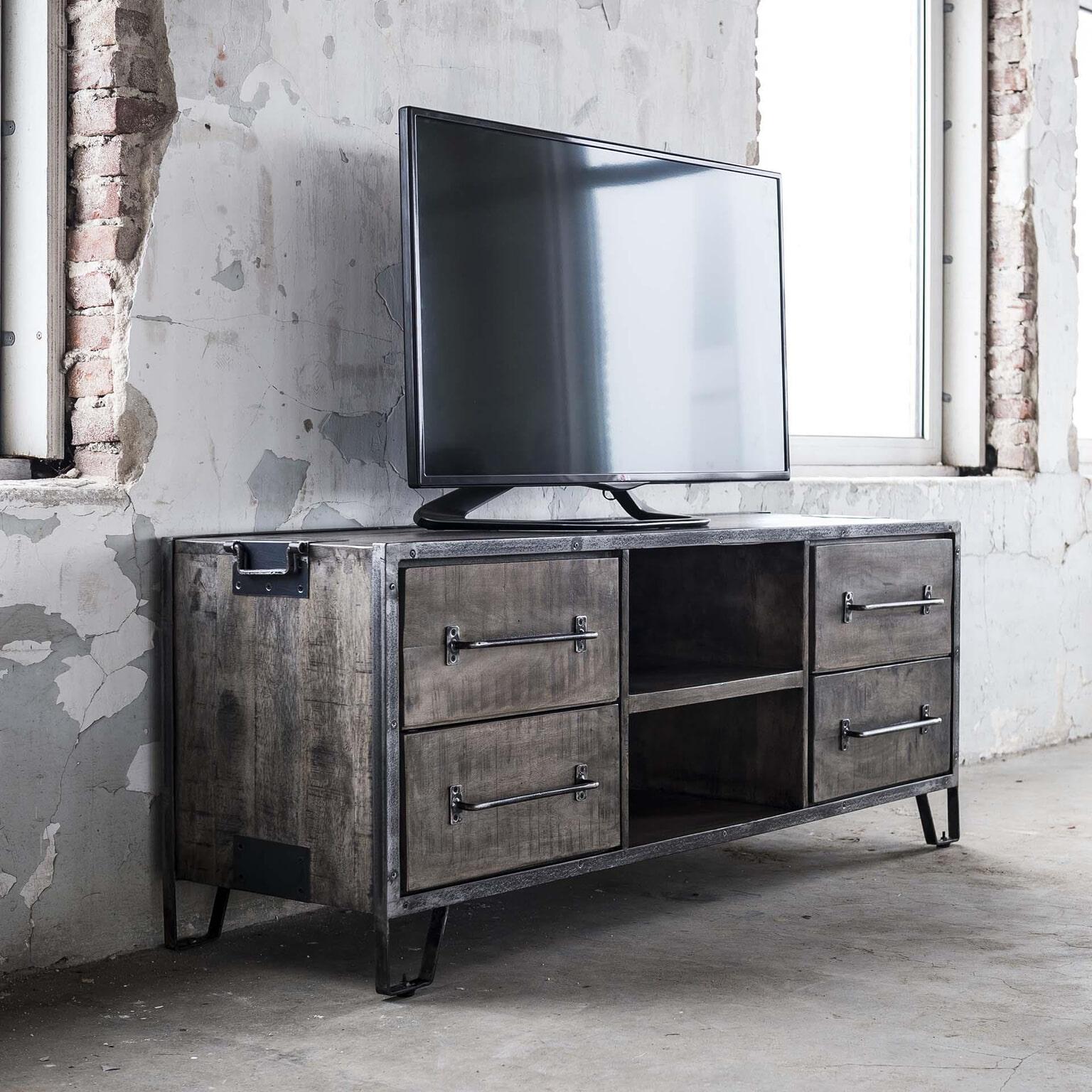 Tv Meubel 150 Cm.Tv Meubel Rift 150cm Met 4 Laden Meubelpartner