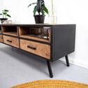 SoHome TV-meubel 'Florida' Mangohout met staal, 160cm