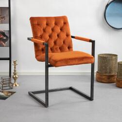 Sohome Eetkamerstoel 'York' Velvet, kleur Oranje