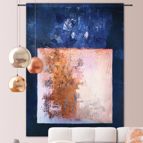 Urban Cotton Wandkleed 'Abstract in D-Minor', 190 x 145cm