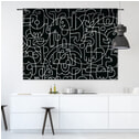 Urban Cotton Wandkleed 'Doodles', 145 x 190cm