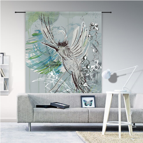 Urban Cotton Wandkleed 'Free Flight', 190 x 145cm