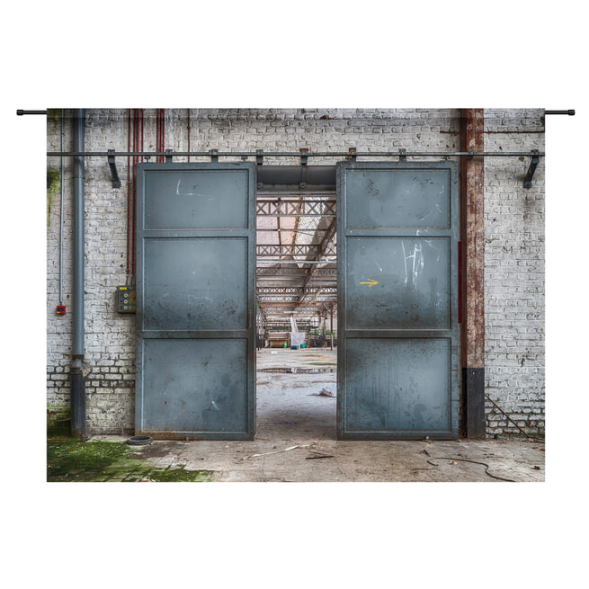 Urban Cotton Wandkleed 'Spinning Doors', 145 x 190cm