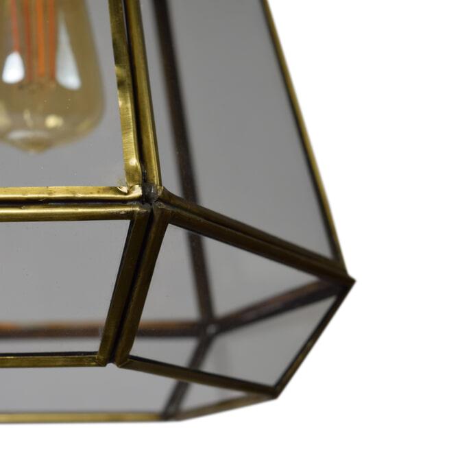 Urban Interiors hanglamp 'Geo2' 20cm, kleur Brass Antique