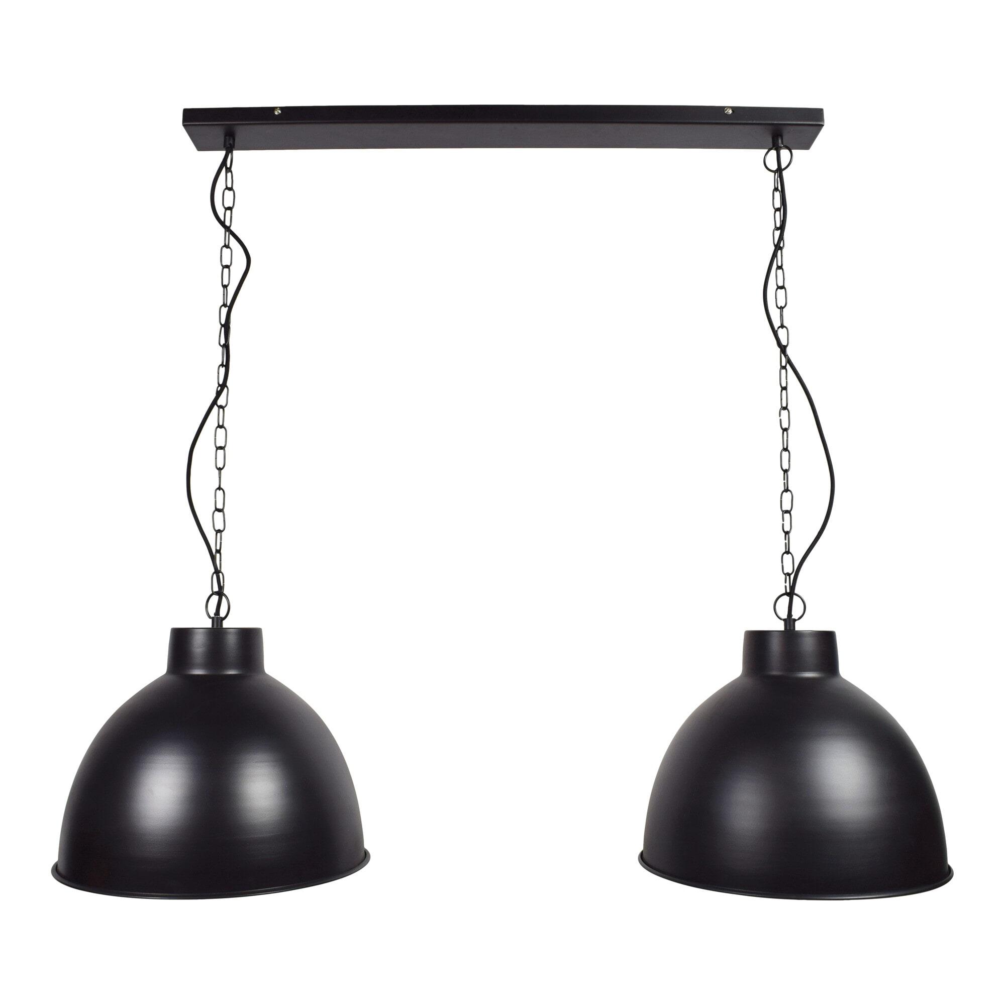 Urban Interiors hanglamp 'Rocky Double' Ø40cm, kleur Mat black Verlichting | Hanglampen vergelijken doe je het voordeligst hier bij Meubelpartner
