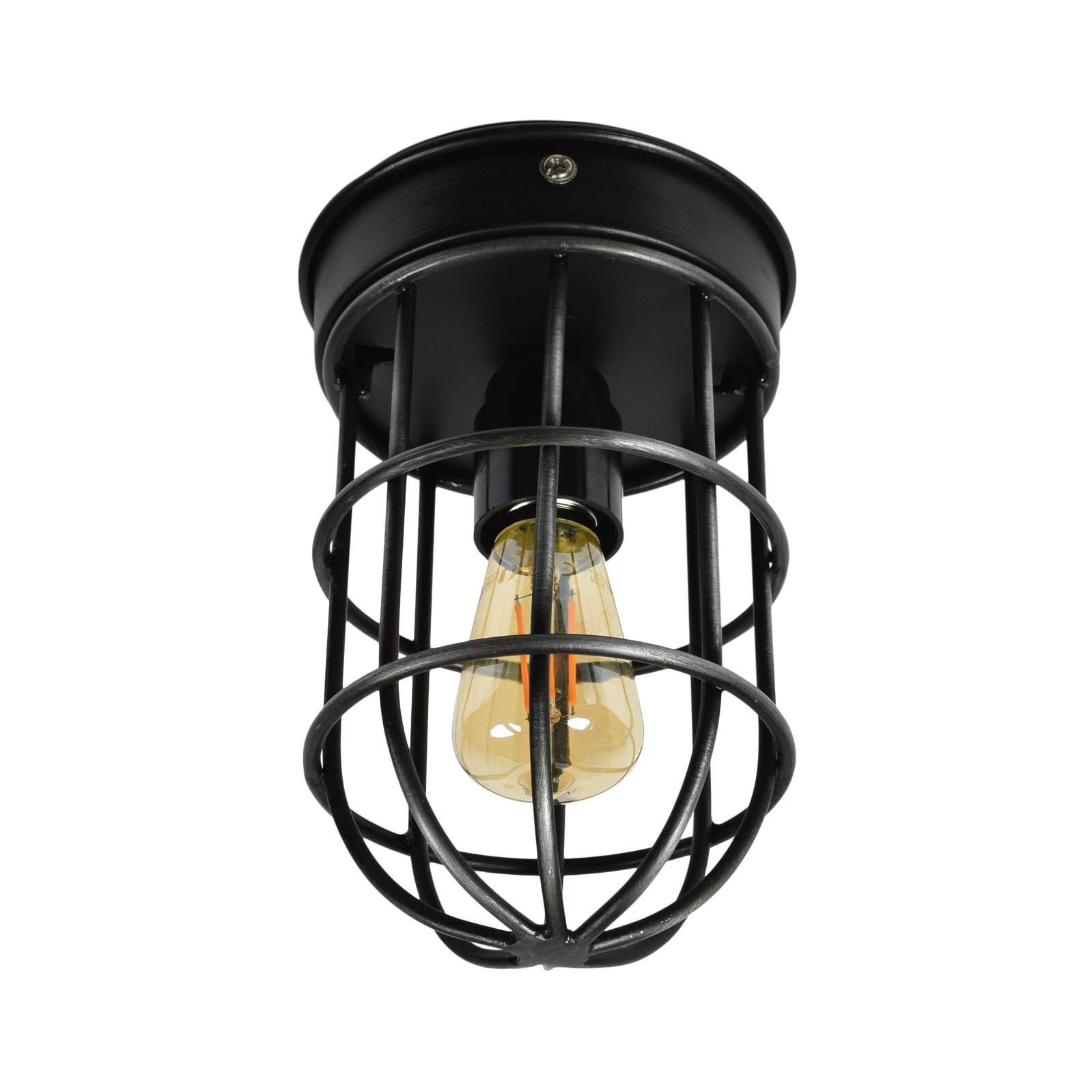 Urban Interiors plafondlamp 'Barn', kleur Vintage Black Verlichting | Plafondlampen vergelijken doe je het voordeligst hier bij Meubelpartner