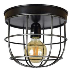 Urban Interiors plafondlamp 'Barn Large'  Ø22, kleur Vintage Black
