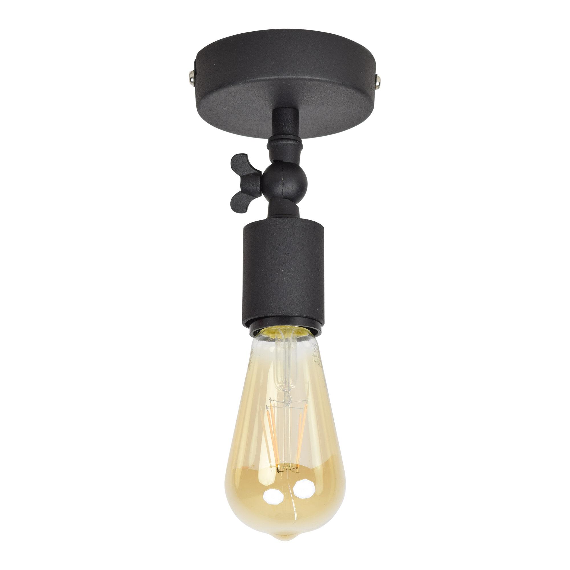 Urban Interiors plafondlamp 'Bulby', kleur Vintage Black Verlichting | Plafondlampen vergelijken doe je het voordeligst hier bij Meubelpartner