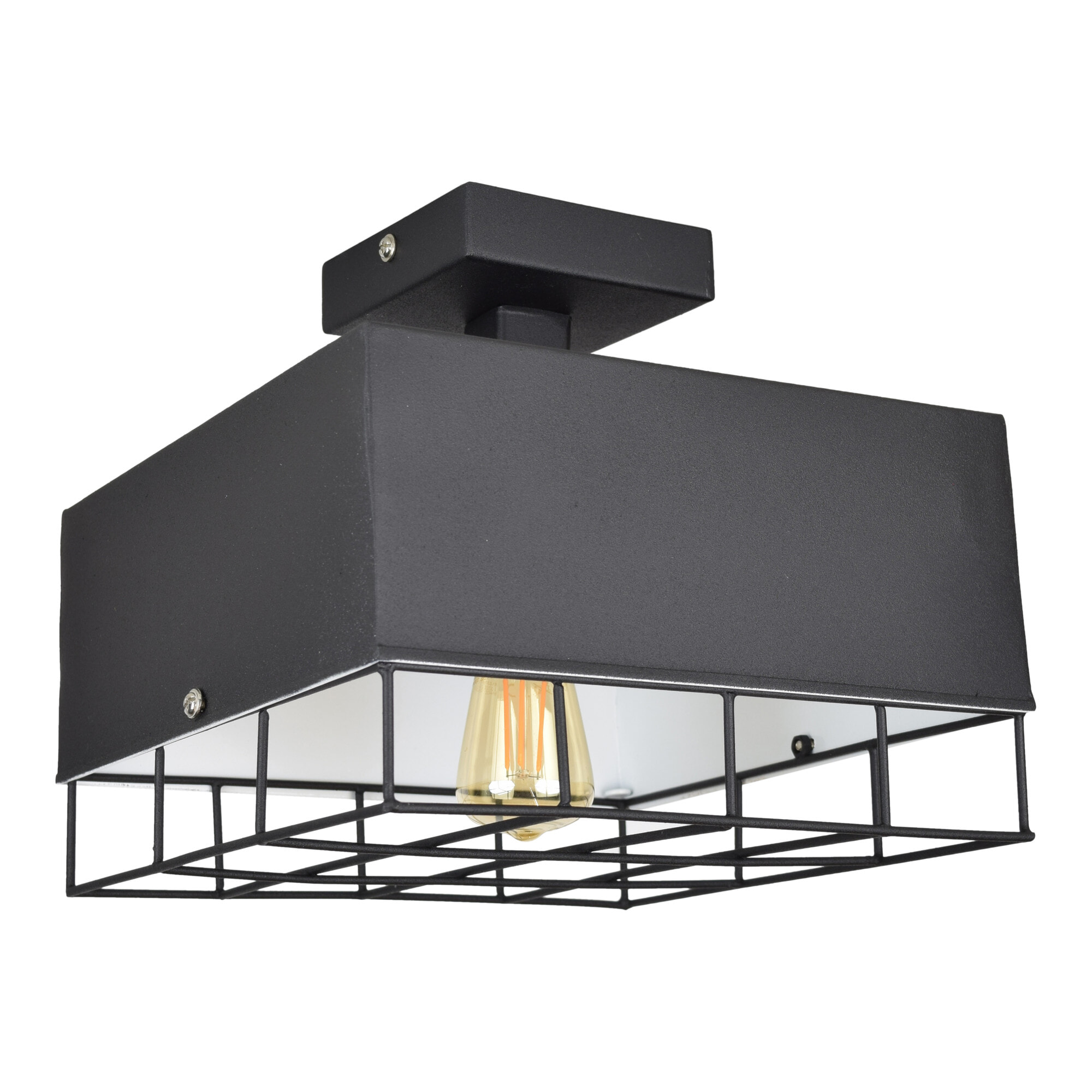Urban Interiors plafondlamp 'Cage', kleur Vintage Black  vergelijken doe je het voordeligst hier bij Meubelpartner