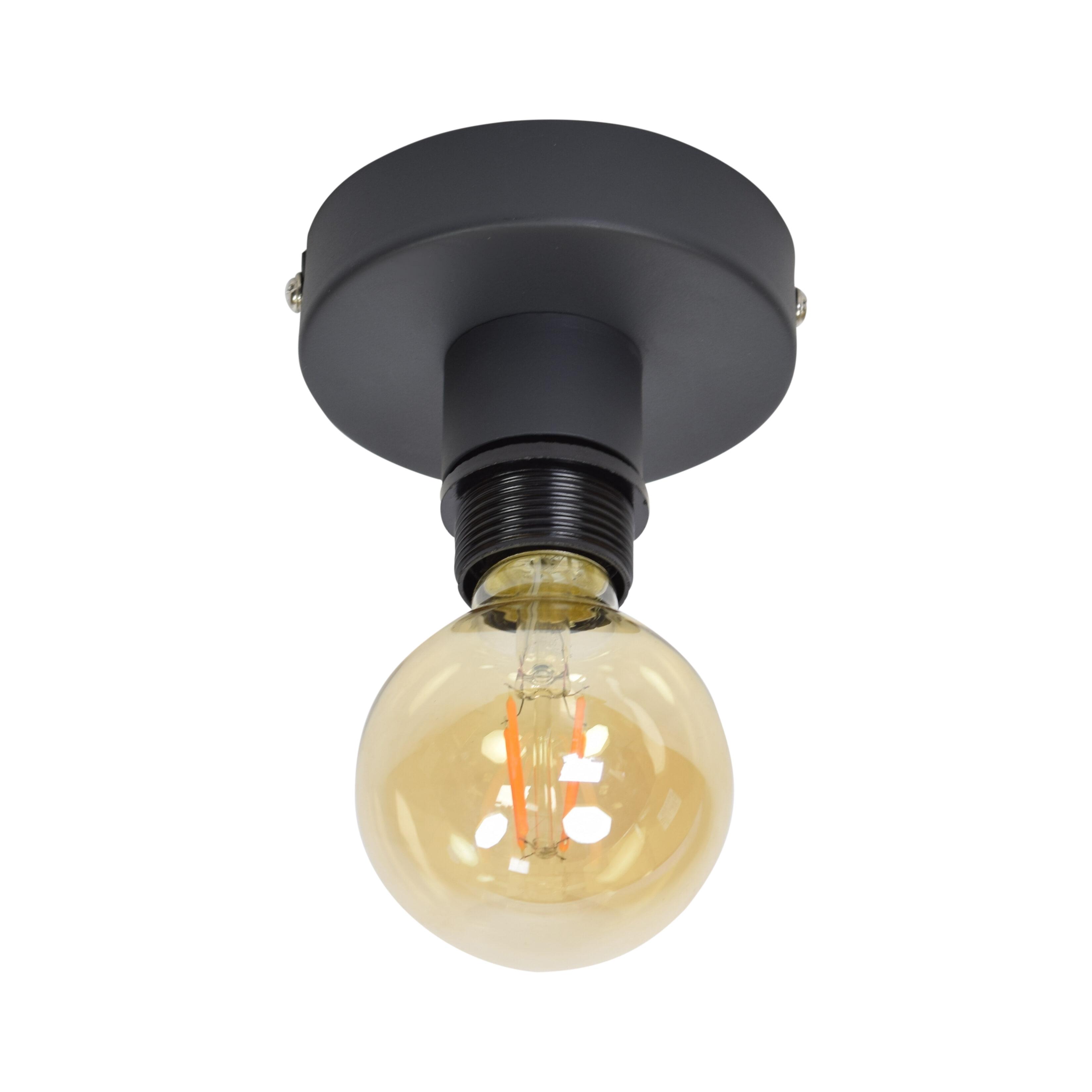 Urban Interiors plafondlamp 'Single', kleur Vintage Black